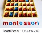 different types of montessori... | Shutterstock . vector #1418542943