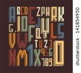 stylish alphabet. vector... | Shutterstock .eps vector #141854950