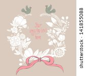 beautiful greeting card with... | Shutterstock .eps vector #141855088