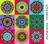 circle ornament  ornamental... | Shutterstock .eps vector #141855229