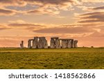 Stonehenge During An Summer...