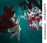 Mystical Underwater Portrait Of ...