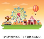 circus fair festival scenery... | Shutterstock .eps vector #1418568320