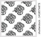 seamless pattern of hand drawn... | Shutterstock .eps vector #1418576873