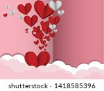 valentine's day with a lot of...   Shutterstock .eps vector #1418585396