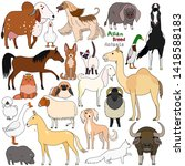 doodle of asian breed domestic...   Shutterstock .eps vector #1418588183