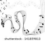 musical note staff. eps 10... | Shutterstock .eps vector #141859813