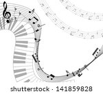 musical note staff. eps 10... | Shutterstock .eps vector #141859828