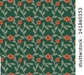 seamless floral pattern with... | Shutterstock .eps vector #141860353