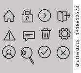 universal icons sat.eps 10.  ...   Shutterstock .eps vector #1418612573
