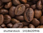 close up of dark brown roasted... | Shutterstock . vector #1418620946