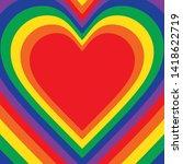 rainbow heart background order...   Shutterstock .eps vector #1418622719