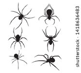 set of spiders collection.... | Shutterstock .eps vector #1418636483