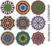 circle ornament  ornamental... | Shutterstock .eps vector #141864040