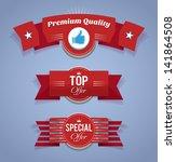 promotion ribbons. eps10. | Shutterstock .eps vector #141864508