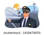 corporate aviation pilot vector ...