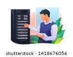server maintenance vector...