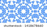 blue and white vintage  retro... | Shutterstock . vector #1418678660