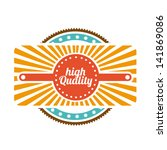 high quality label over white... | Shutterstock .eps vector #141869086