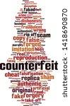 counterfeit word cloud concept. ... | Shutterstock .eps vector #1418690870