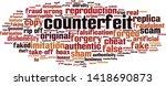 counterfeit word cloud concept. ... | Shutterstock .eps vector #1418690873
