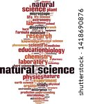 natural science word cloud... | Shutterstock .eps vector #1418690876