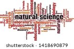 natural science word cloud... | Shutterstock .eps vector #1418690879