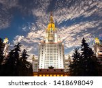 moscow  russia   may 17  2019 ... | Shutterstock . vector #1418698049