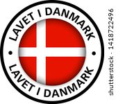 made in denmark flag icon | Shutterstock .eps vector #1418722496