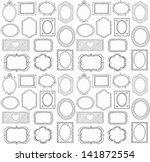 seamless doodle frame set | Shutterstock .eps vector #141872554