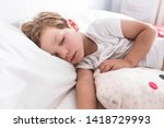 3 years toddler boy sleeping... | Shutterstock . vector #1418729993