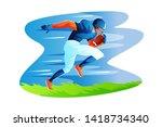 football athlete vector concept ...