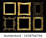 thai pattern photo frame vector | Shutterstock .eps vector #1418766746