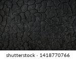 Wood Charcoal Texture. Burnt...