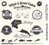 Vector Set  Gone Fishing Labels