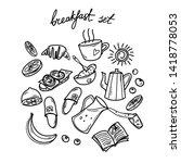 doodling. set of different... | Shutterstock .eps vector #1418778053