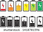 battery charging flat icon.... | Shutterstock .eps vector #1418781596