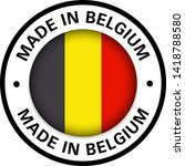 made in belgium flag icon | Shutterstock .eps vector #1418788580
