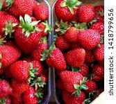 macro photo of strawberry berry ... | Shutterstock . vector #1418799656
