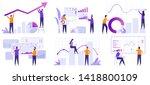 market analytics. finance... | Shutterstock .eps vector #1418800109