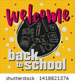 back to school. background with ... | Shutterstock .eps vector #1418821376