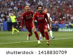 mohamed salah of liverpool... | Shutterstock . vector #1418830709