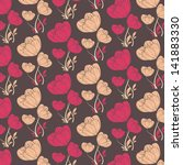 vector abstract flower pattern... | Shutterstock .eps vector #141883330