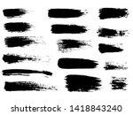 painted grunge stripes set.... | Shutterstock . vector #1418843240
