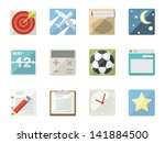 flat icons for web and mobile... | Shutterstock .eps vector #141884500