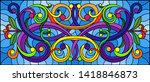 illustration in stained glass... | Shutterstock .eps vector #1418846873