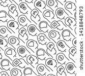 human thinking seamless pattern ...   Shutterstock .eps vector #1418848793