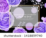 floral invitation with gentle...   Shutterstock . vector #1418859740