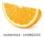 Single Slice Of Orange Citrus...