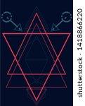 a sacred geometry line taken... | Shutterstock . vector #1418866220